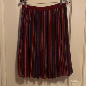 Ann Taylor pleated strip skirt
